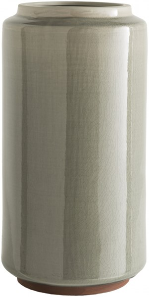 Montero Contemporary Gray Ceramic Table Vase MNT691-L