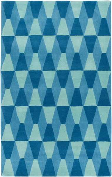 Mod Pop Modern Mint Teal Wool Area Rug (L 90 X W 60) MPP4502-576