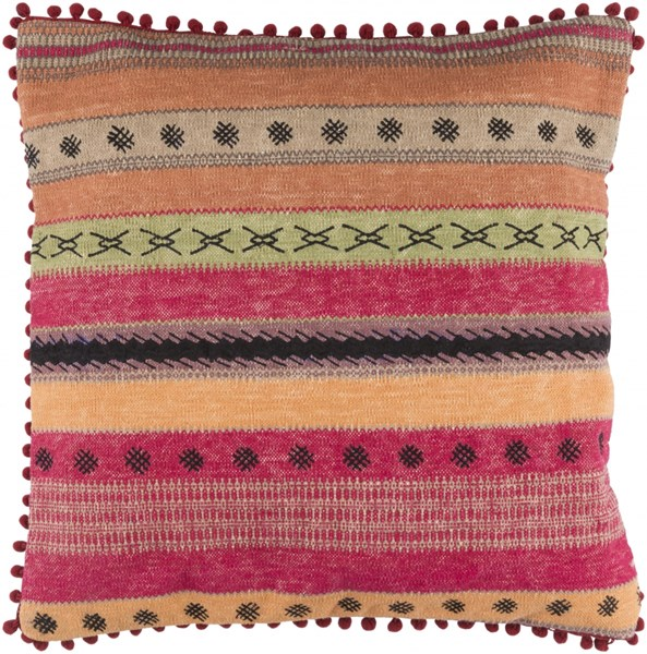 Marrakech Global-Inspired Burnt Orange Cherry Cotton Throw Pillows 13539-VAR1