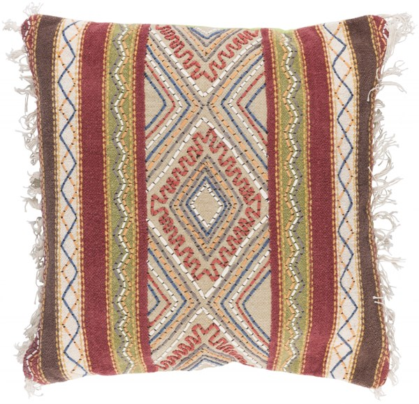 Marrakech Gold Olive Poly Cotton Throw Pillow (L 20 X W 20 X H 5) MR004-2020P