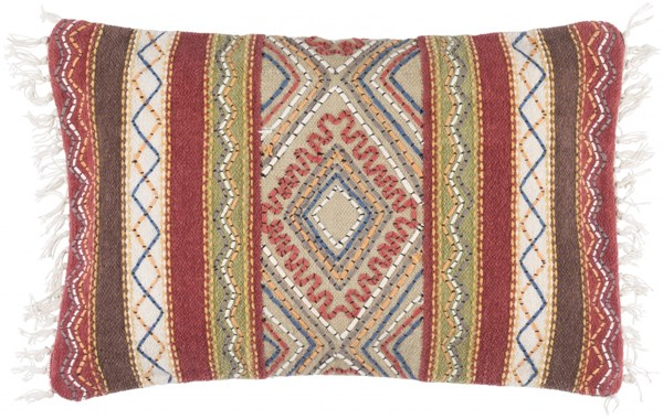 Marrakech Gold Olive Down Cotton Lumbar Pillow (L 14 X W 22 X H 4) MR004-2214D