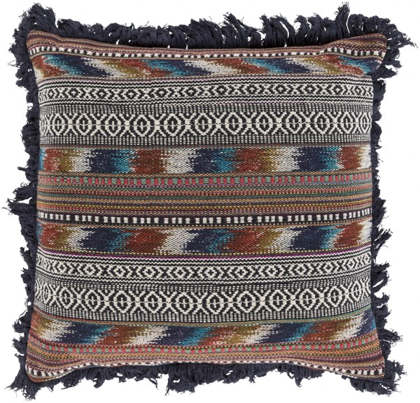 Marrakech Rust Charcoal Poly Fiber Throw Pillow (L 30 X W 30 X H 5) MR006-2020P