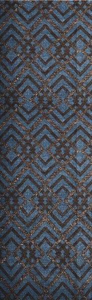 Marinda Contemporary Gray Chocolate Teal Wool Metallic Rugs 12876-VAR1