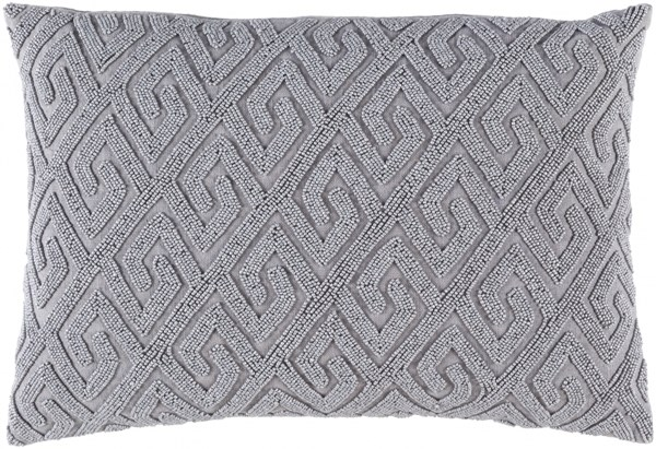 Marielle Contemporary Gray Cotton Lumbar Pillow (L 19 X W 13 X H 4) MRL002-1319D