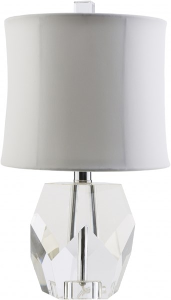 Miramar Contemporary White Ivory Taupe Crystal Rayon Table Lamps 13889-VAR1