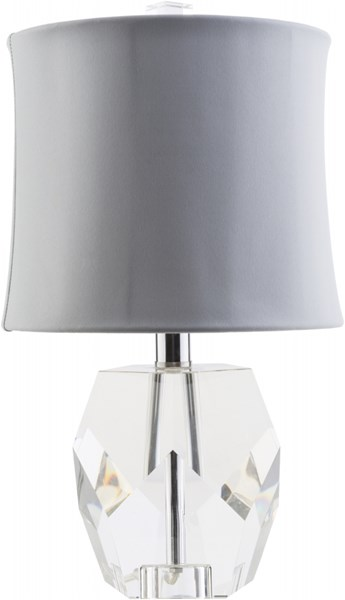 Miramar Contemporary Clear Ivory Crystal Rayon Table Lamp MRM631-TBL