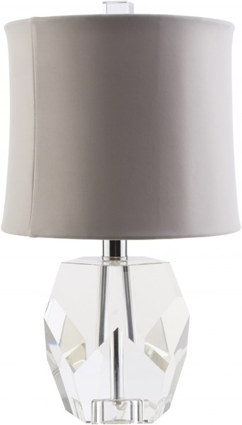 Miramar Contemporary Clear Taupe Crystal Rayon Table Lamp MRM632-TBL