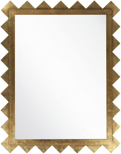 Surya Wall Decor Brilliant Gold MDF Wall Mirror - 45x57 MRR1005-5745