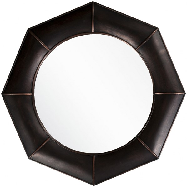 Surya Wall Decor Bronze MDF Wall Mirror - 32x32 MRR1008-3232