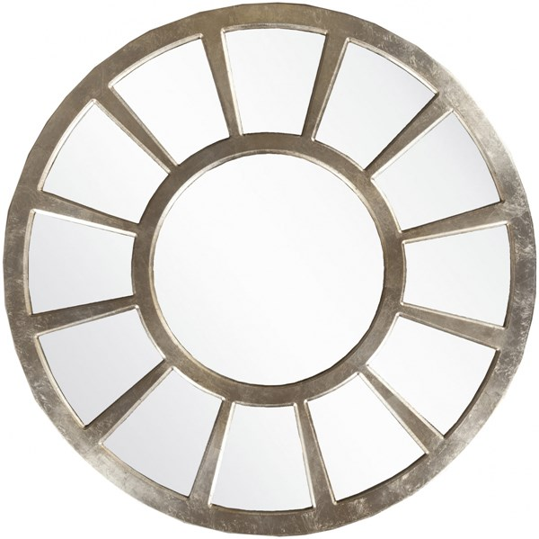 Surya Wall Decor Champagne MDF Wall Mirror - 47x47 MRR1009-4747