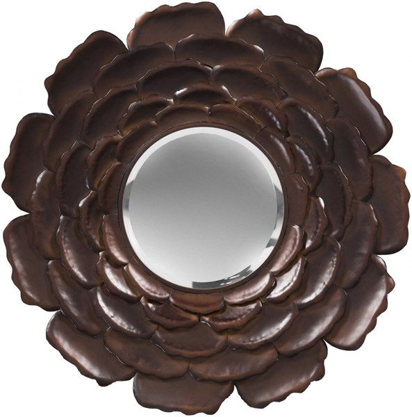 Surya Wall Decor Antiqued Bronze Metal Wall Mirror - 32x32 MRR1019-3232