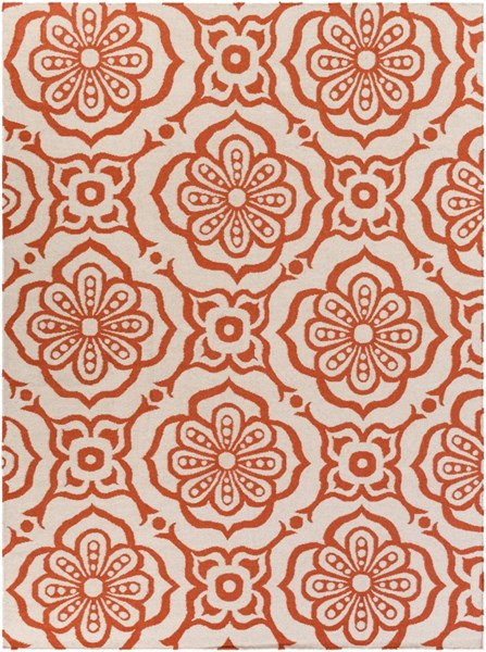 Marseille Poppy Ivory Wool Area Rug - 96 x 132 MRS2001-811