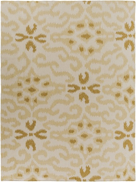Marseille Butter Gold Beige Wool Area Rug - 96 x 132 MRS2009-811