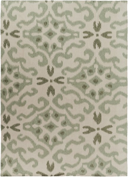 Marseille Moss Forest Beige Wool Area Rug - 96 x 132 MRS2010-811