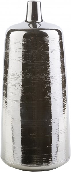 Moreau Modern Gray Ceramic Table Vase - 7.1W x 7.1L x 17H MRU340-L