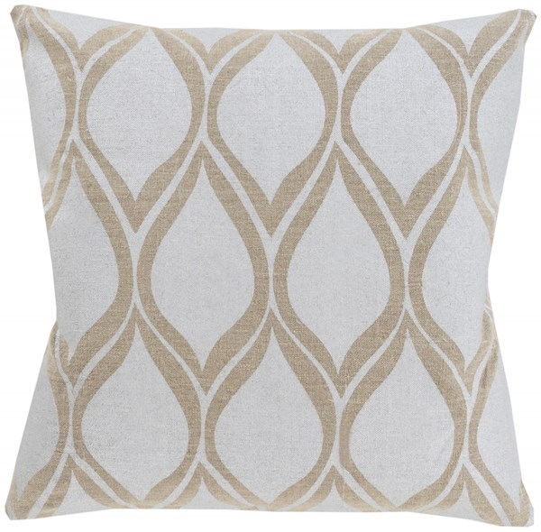 Metallic Stamped Gray Poly Fabric Throw Pillow (L 20 X W 20) MS001-2020P