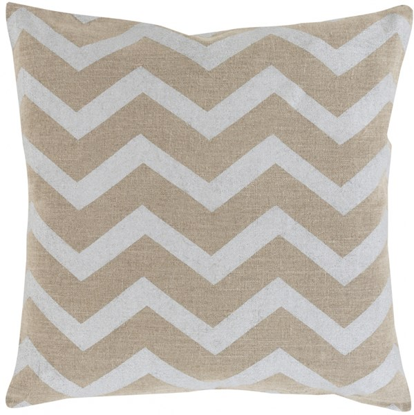 Metallic Stamped Gray Poly Fabric Throw Pillow (L 22 X W 22 X H 5) MS002-2222P