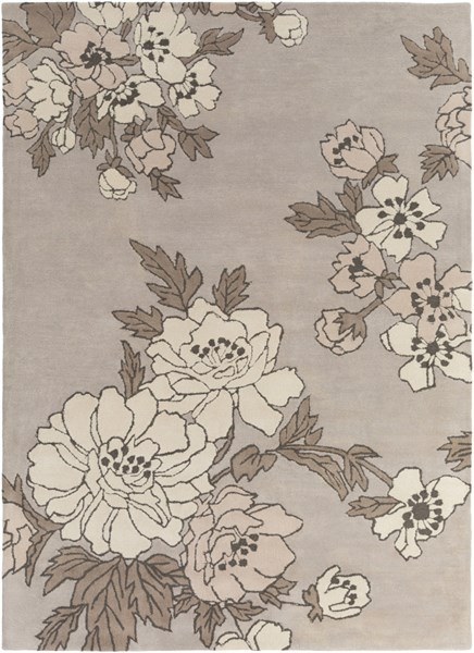 Mount Perry Gray Ivory Taupe Olive New Zealand Wool Area Rug - 96x132 MTP1000-811