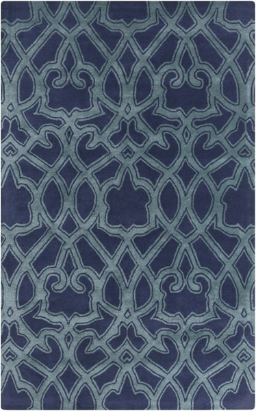 Mount Perry Navy Teal New Zealand Wool Area Rug - 60 x 96 MTP1022-58