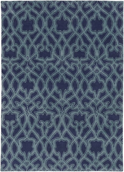 Mount Perry Navy Teal New Zealand Wool Area Rug - 96 x 132 MTP1022-811