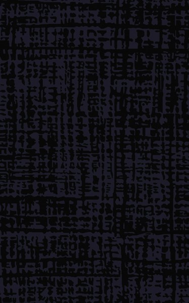 Mount Perry Modern Black Navy Wool Area Rug (L 96 X W 60) MTP1025-58