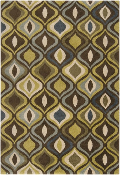 Monterey Charcoal Olive Moss Polypropylene Power Loomed Rugs 480-VAR1