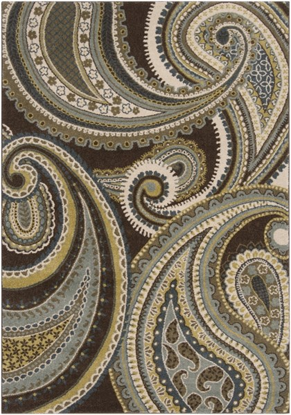 Monterey Contemporary Olive Chocolate Moss Polypropylene Area Rug MTR1009-5376