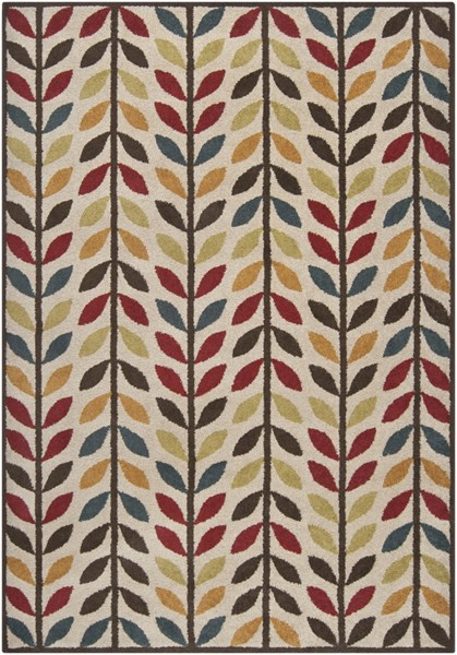 Monterey Contemporary Olive Charcoal Burgundy Polypropylene Area Rug MTR1016-5376