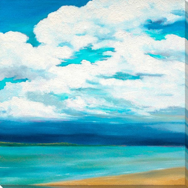 Surya Eternal Canvas Clouds Over the Point Wall Art - 28x28 MY107A001-2828