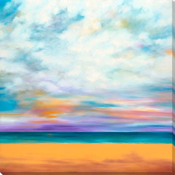 Surya Eternal Canvas Clouds Above the Beach Wall Art - 18x18 MY116A001-1818