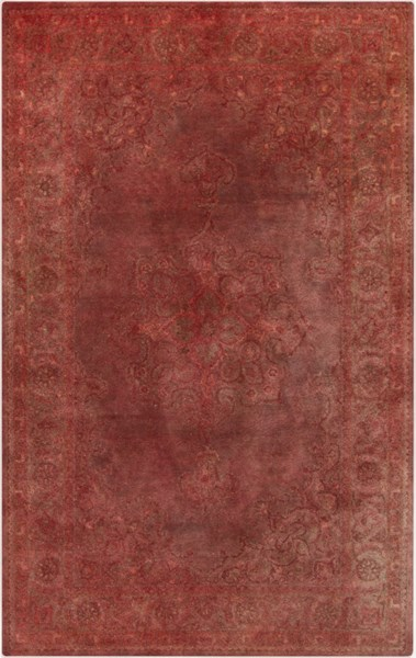 Mykonos Contemporary Coral Eggplant Olive Wool Rugs 1087-VAR1