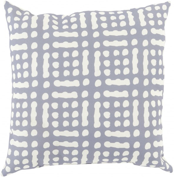 Mizu Contemporary Charcoal Beige Polyester Throw Pillow (L 18 X W 18) MZ017-1818