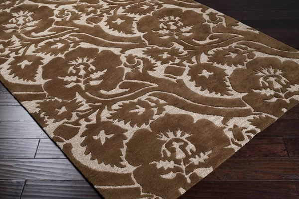 Natura Beige Plush High/Low Pile Rectangle Wool Rug - L 156 X W 108 NAT7019-913