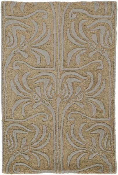 Natura Contemporary Taupe Light Gray Slate Wool Rugs 102-VAR1