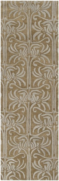 Natura Contemporary Taupe Light Gray Wool Runner (L 96 X W 30) NAT7037-268