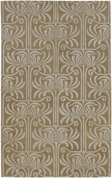 Natura Contemporary Taupe Light Gray Wool Area Rug (L 96 X W 60) NAT7037-58
