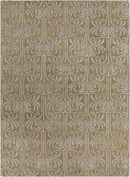 Natura Contemporary Taupe Light Gray Wool Area Rug (L 132 X W 96) NAT7037-811