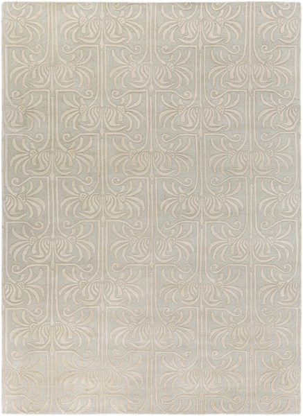 Natura Contemporary Slate Beige Wool Area Rug (L 132 X W 96) NAT7055-811