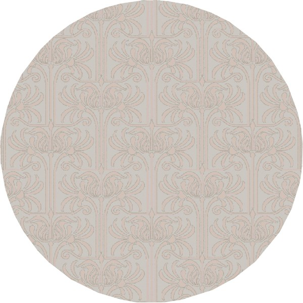 Natura Contemporary Slate Beige Wool Round Area Rug (L 96 X W 96) NAT7055-8RD