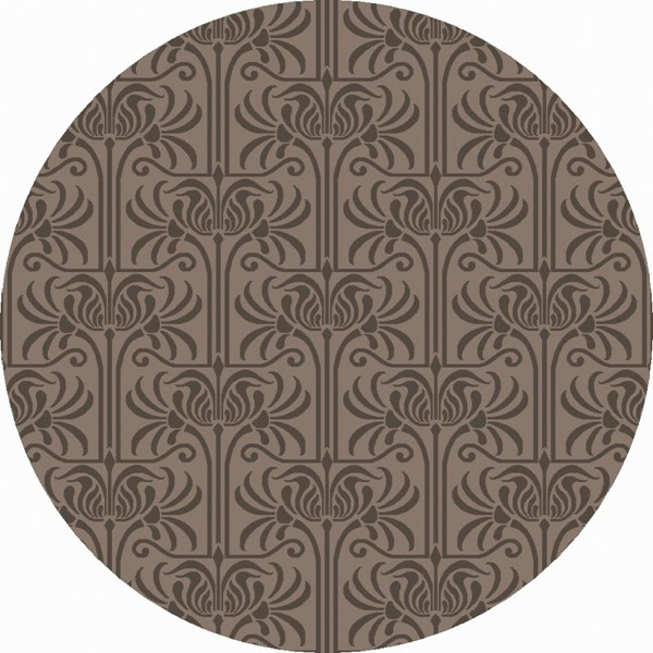 Natura Charcoal Light Gray Wool Round Area Rug (L 96 X W 96) NAT7057-8RD