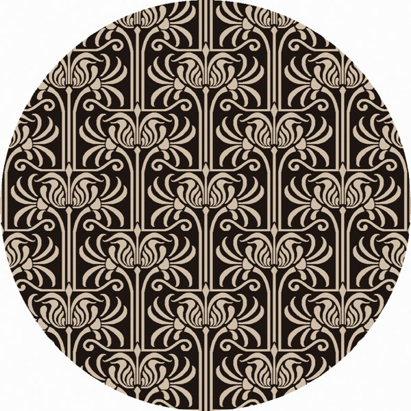 Natura Light Gray Charcoal Wool Round Area Rug (L 96 X W 96) NAT7058-8RD