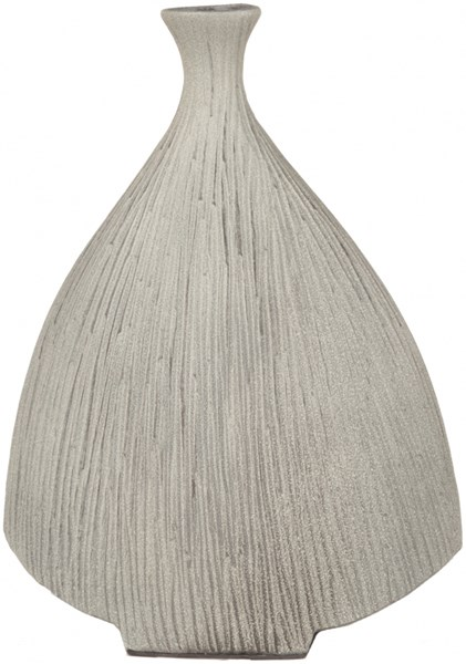 Natural Modern Taupe Ceramic Table Vase - 12.8W x 5.1L x 16.9H NCV851-M