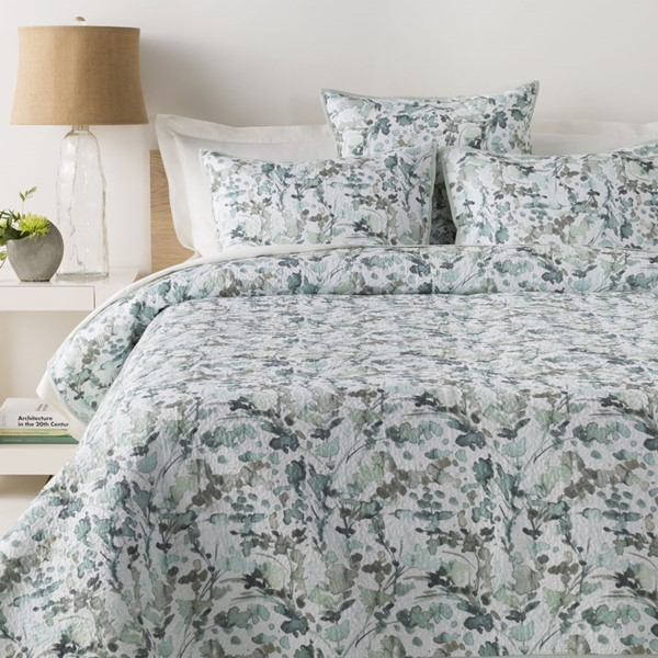 Surya Naida Sea Foam White King CA Duvet Set NDA2000-KSET