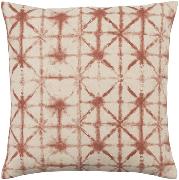 Nebula Rust Beige Down Polyester Linen Throw Pillow - 22x22x5 NEB001-2222D