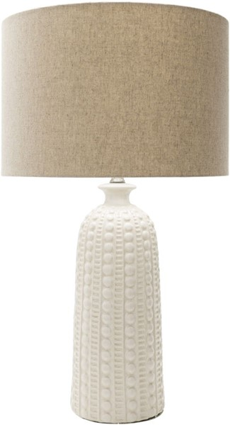 Surya Newell Camel White Ceramic Table Lamp - 16x28.75 NEW100-TBL