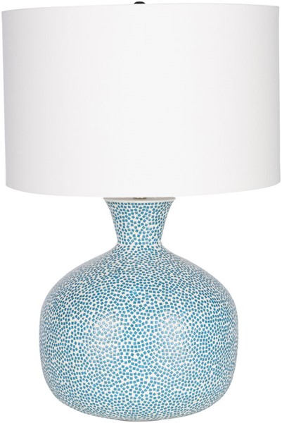 Surya Penina Sky Blue Glass Table Lamp - 17x24.50 NIN-001