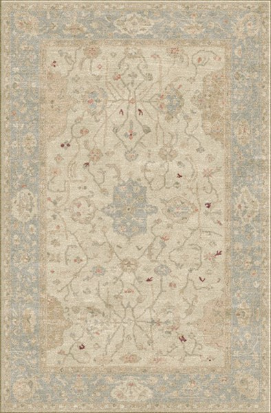 Normandy Vintage Gray Ivory Gold Wool Area Rug (L 108 X W 72) NOY8002-69