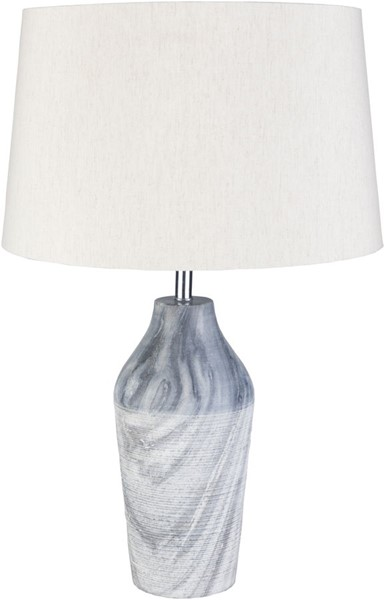 Surya Nora White Marble Table Lamp - 15x26 NRA-001