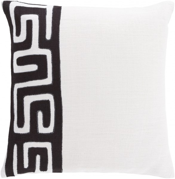 Nairobi Black Ivory Poly Linen Throw Pillow - 18x18x4 NRB012-1818P
