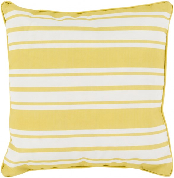 Nautical Stripe Gold Ivory Polyester Throw Pillow - 20x20x5 NS003-2020